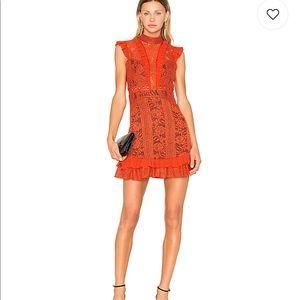 Three Floor Rust Red Dress